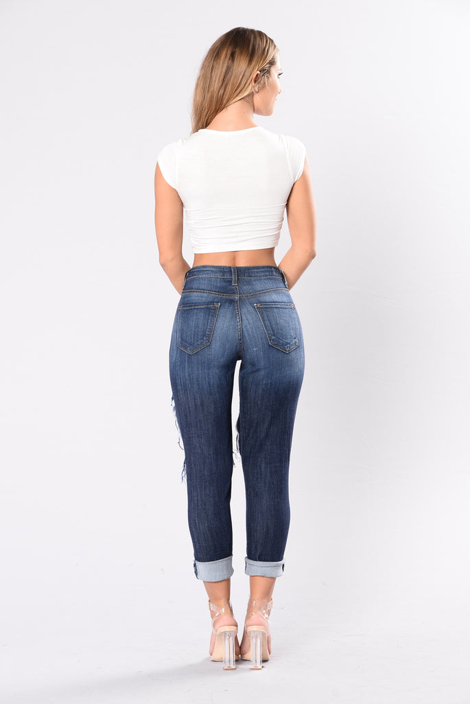 No Scrub Jean - Dark Wash
