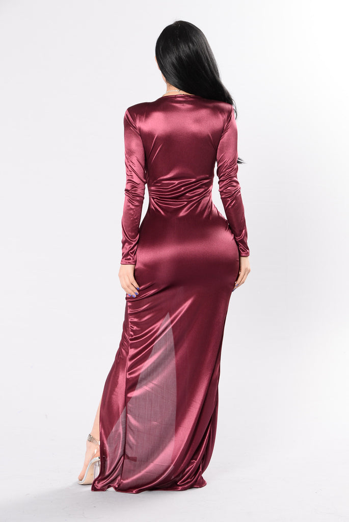 Favorite Trick Dress - Burgundy