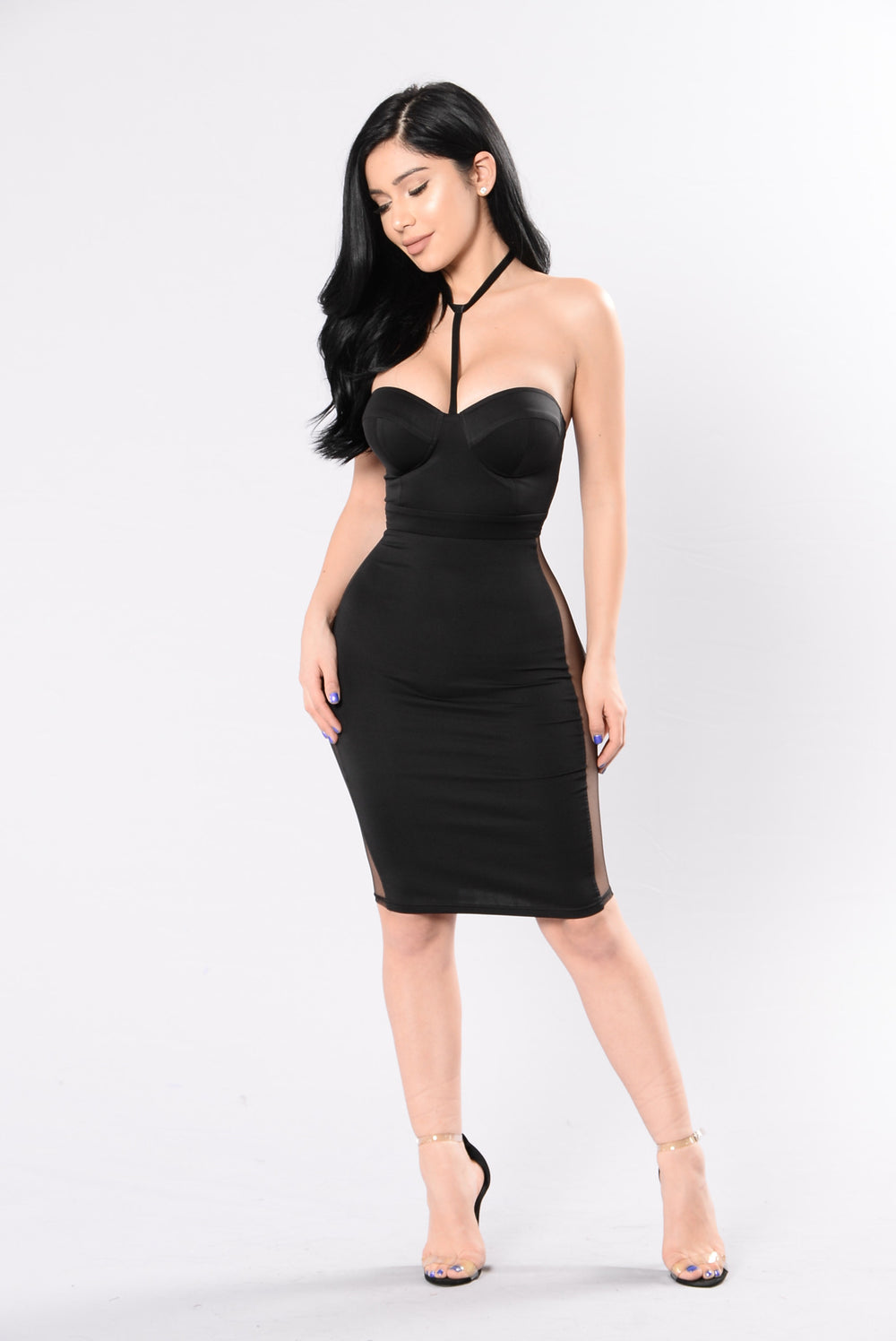 Watch Me Unfold Dress - Black
