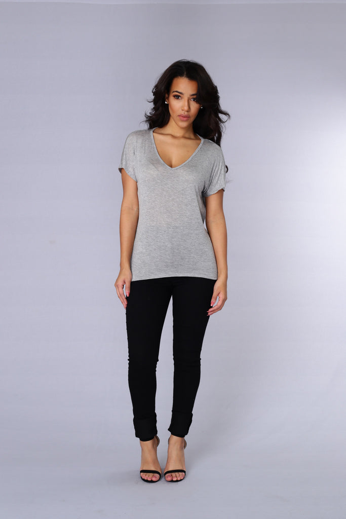 Lorraine Tee - Heather Grey