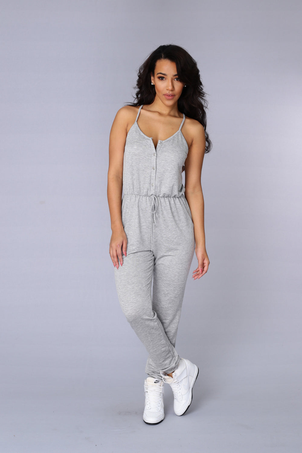 Day Off Jumpsuit - Heather Grey