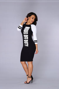 Model Off Duty Dress - Black/White Angle 3