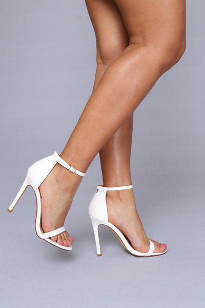 Flame Heel - White