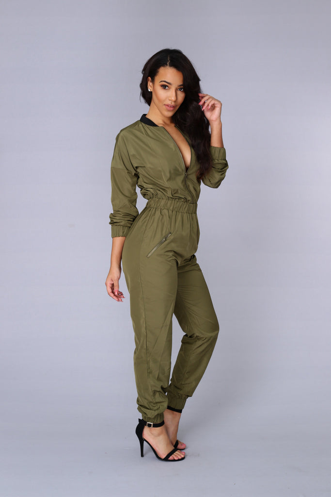 Top Gun Jumpsuit - Olive