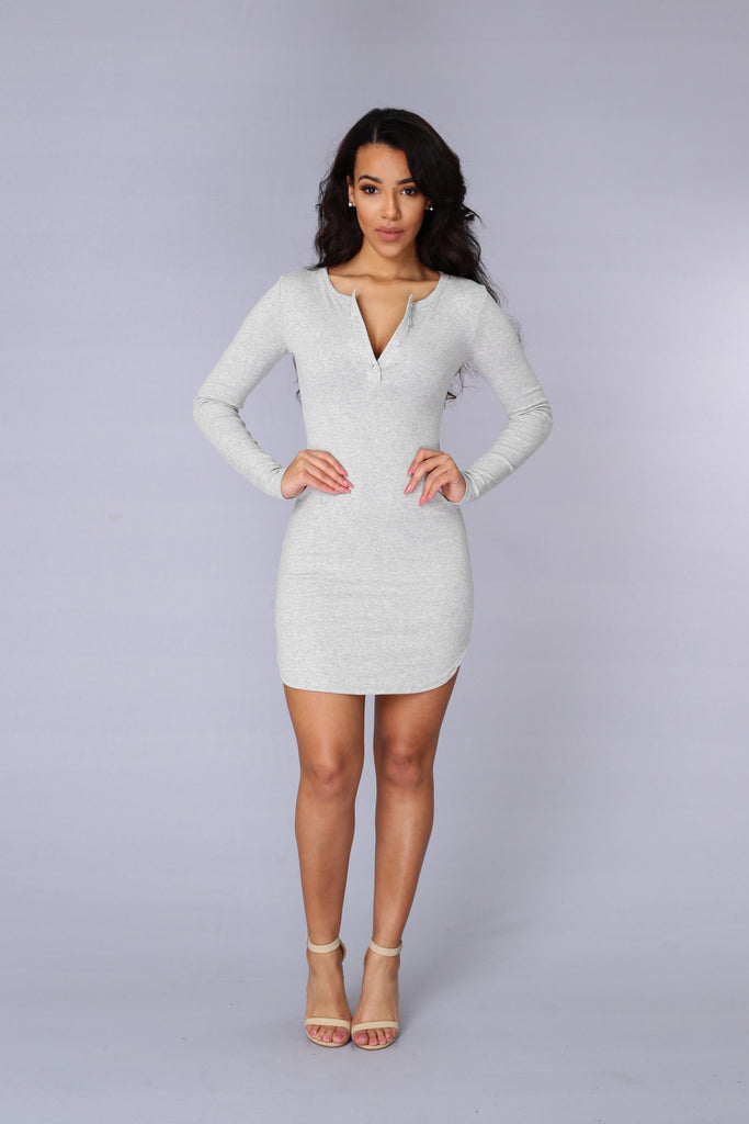Thames Dress - Heather Grey