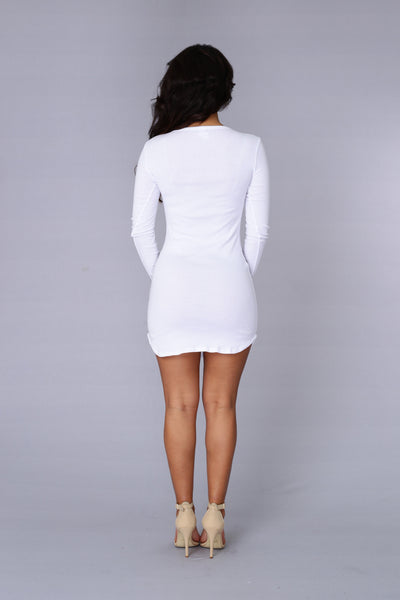 Thames Dress - White