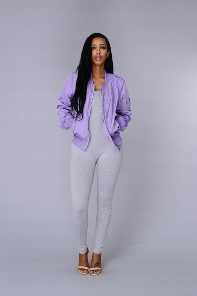 Picture Me Rollin' Jacket - Lilac