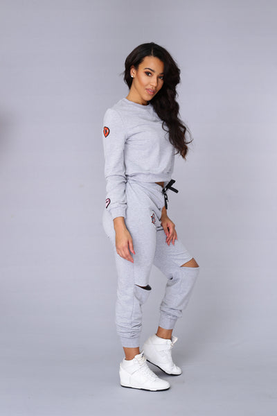 Top Rank Jogger - Heather Grey