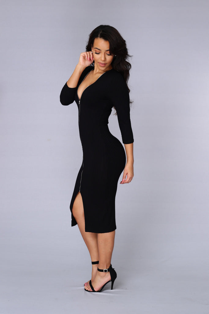Keep It Together Dress - Black