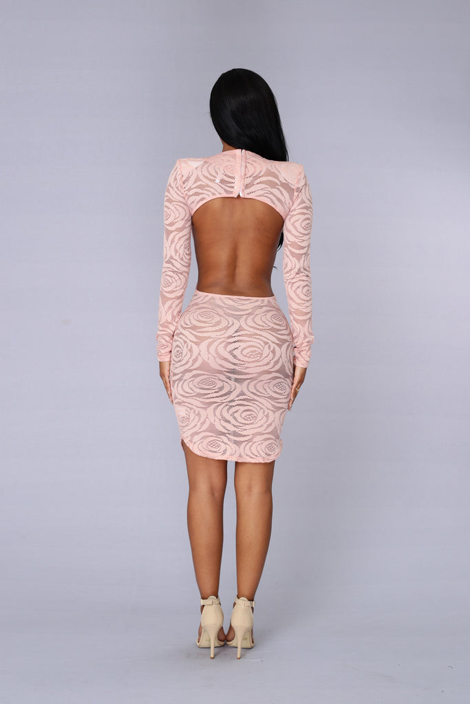 Kiss From A Rose Dress - Blush