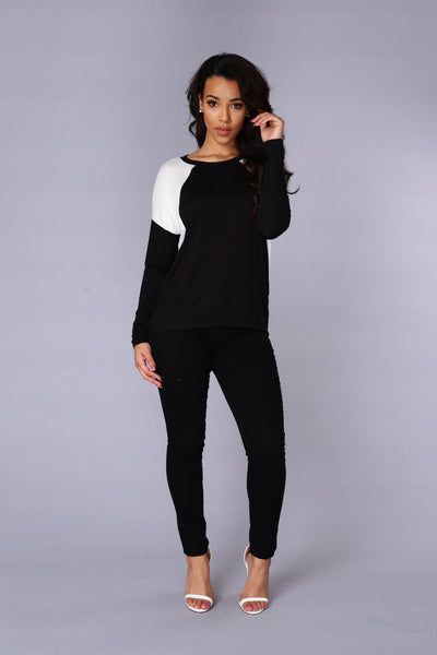Courtside Tee - Black/Ivory