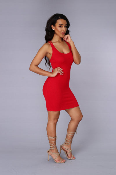 Nancy Dress - Red