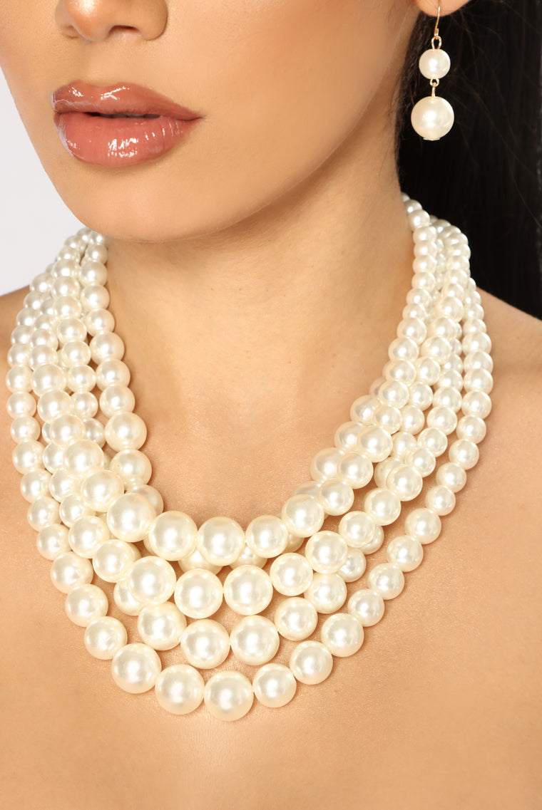 Orbit The Pearls Set - Cream