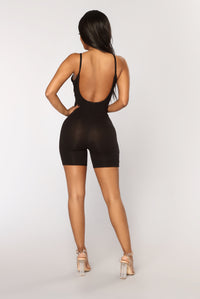 Never Back Down Romper - Black
