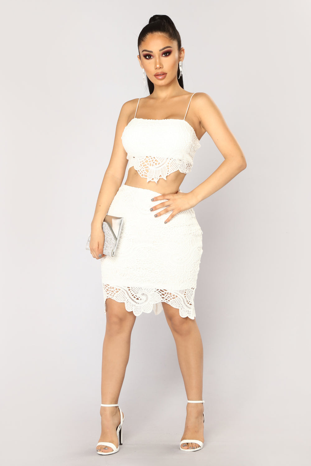 Singing And Dancing Crochet Set - White