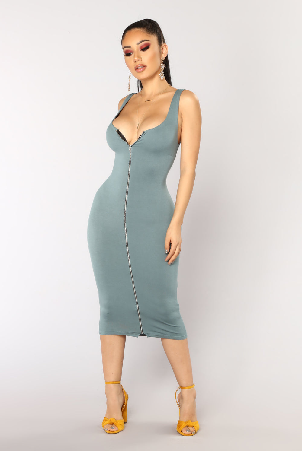 Discovered Tank Dress - Blue