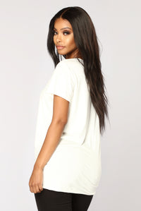 I Call Bullshit Tunic Top - White