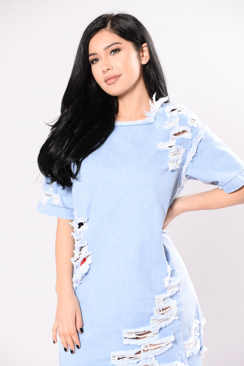 Good Jeans Dress - Light Stone