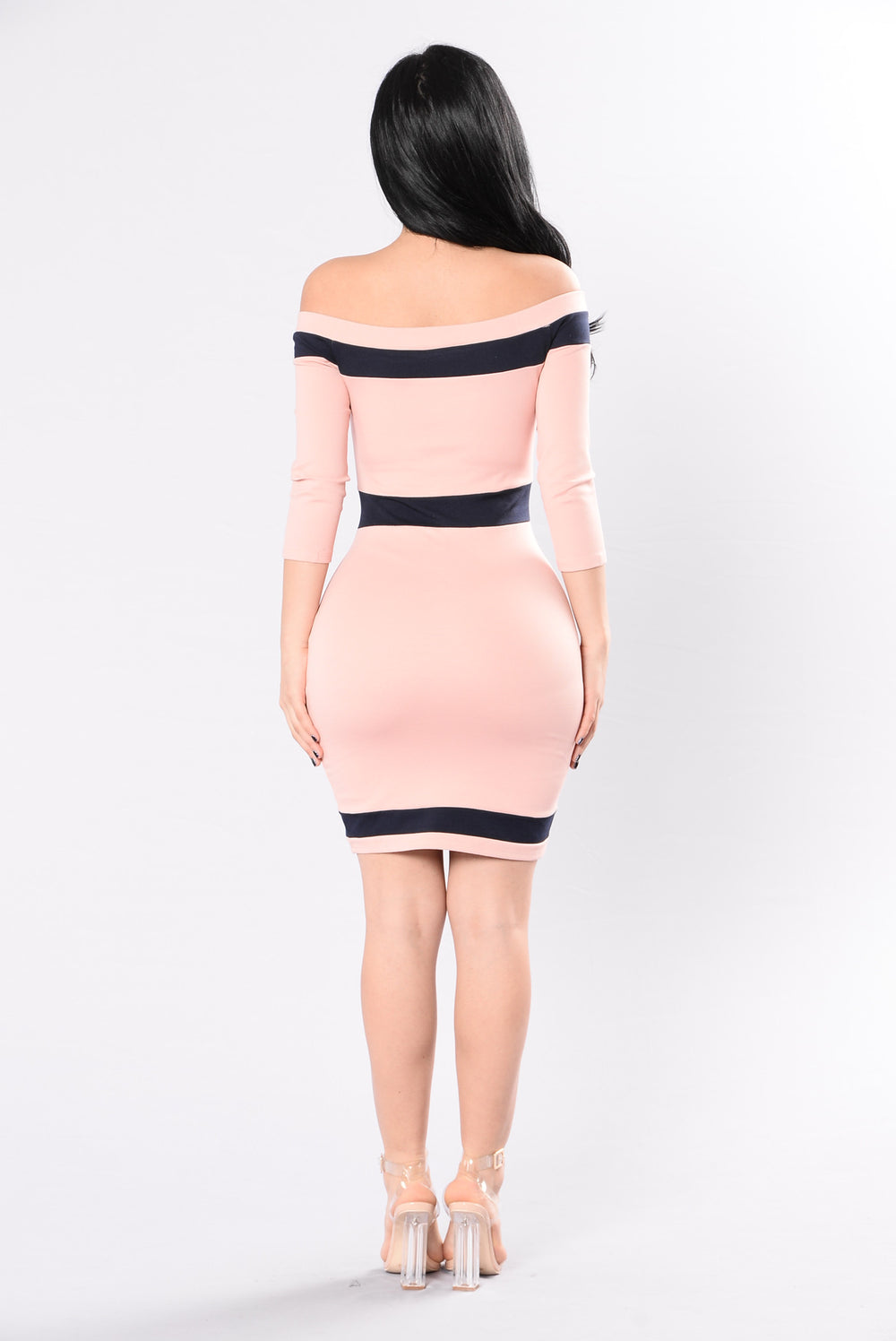Officially Yours Dress - Blush/Navy