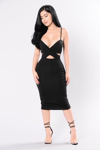 Set You Free Dress - Black