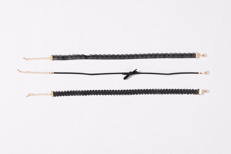 Grant Your Wish Choker Set - Black