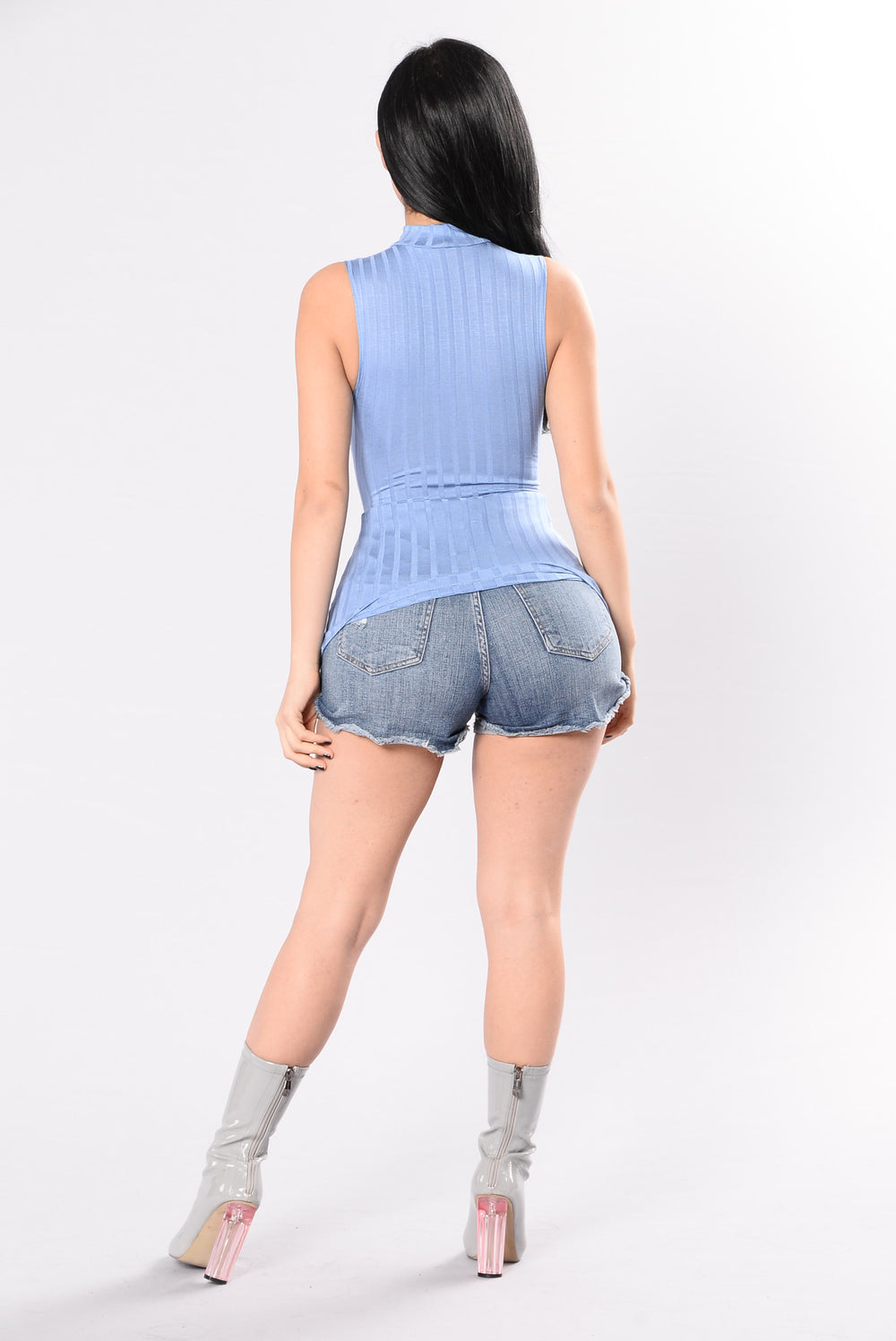 Materialistic Top - Denim Blue