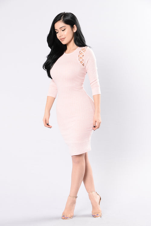 Charge Me Up Dress - Pink Powder
