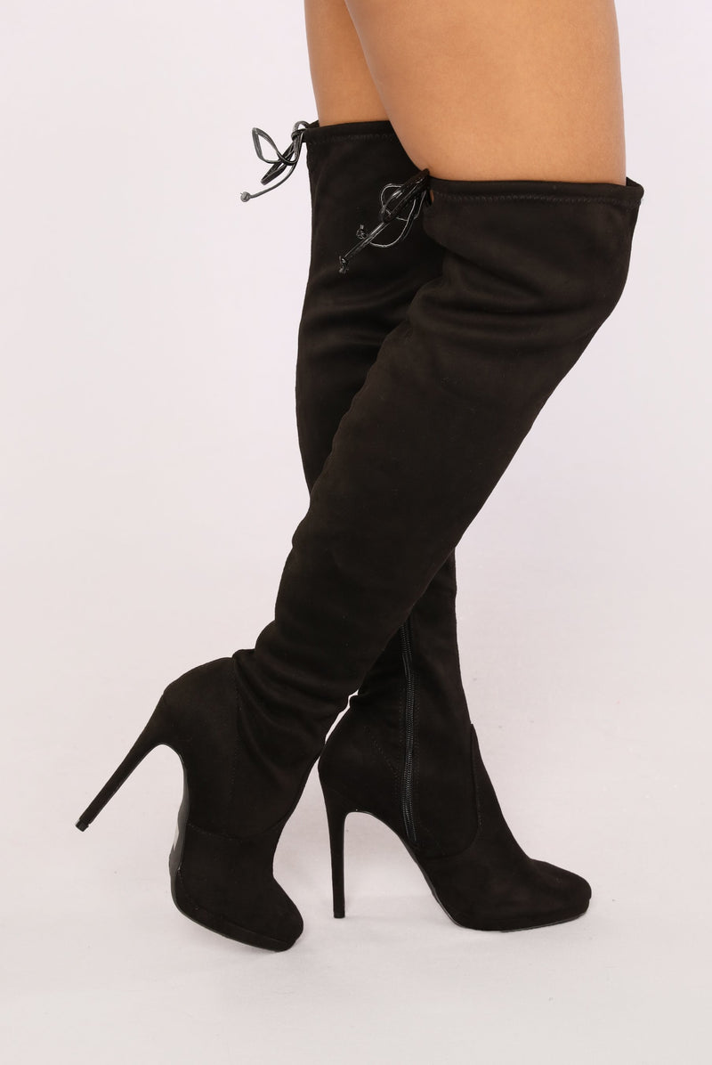 27a64b7c1e2 Black Faux Leather Two Tone Knee High Platform Boot   Cicihot Boots Catalog women s  winter boots