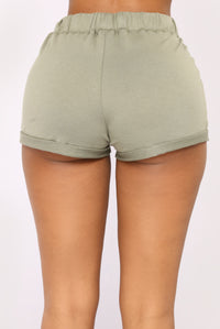 Kassidy Roll Up Shorts - Olive