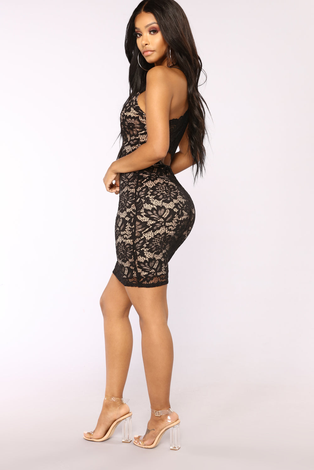 Shake 'Em Off Mini Dress - Black