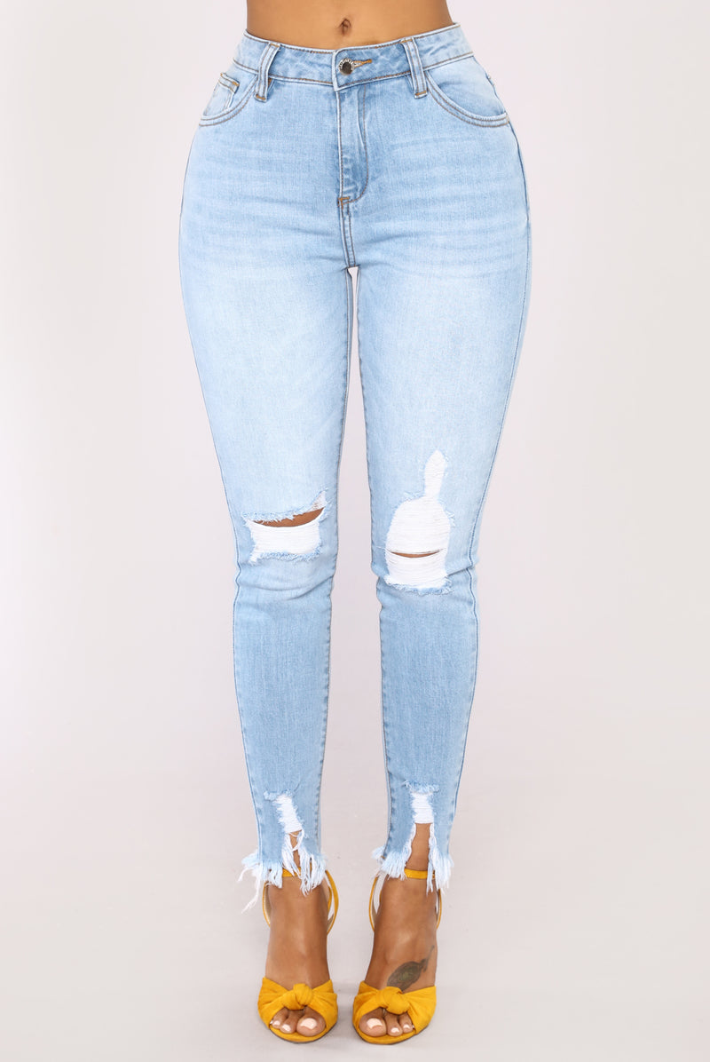 Jonelle High Rise Skinny Jeans - Light Wash