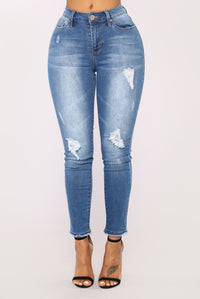 Satisfy My Soul High Rise Jeans - Medium Blue Wash