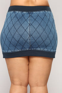 Bankroll Denim Skirt - Denim