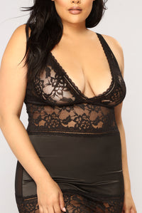 Naughty Girl Chemise - Black Angle 4