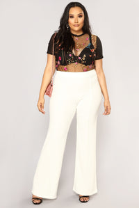 Victoria High Waisted Dress Pants - White