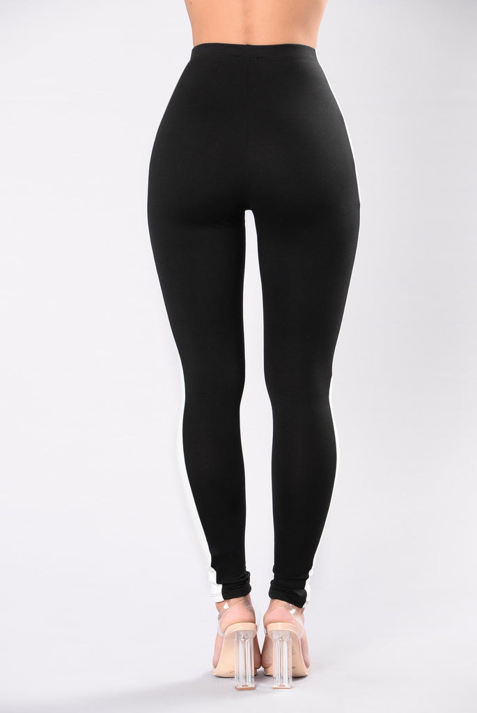 High waisted stripe leggings for women working out
