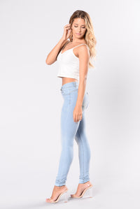 Breaking Necks Booty Lifting Jeans - Light Wash Angle 6