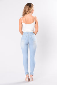 Breaking Necks Booty Lifting Jeans - Light Wash Angle 5