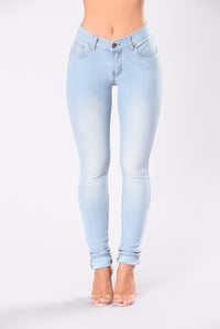 Breaking Necks Booty Lifting Jeans - Light Wash Angle 1