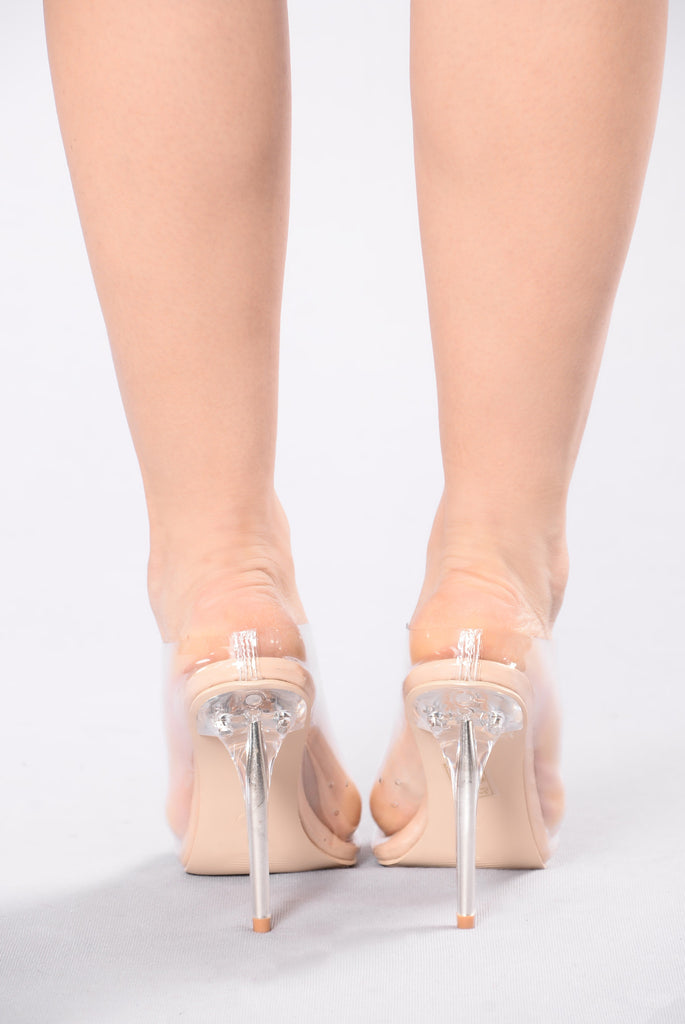 Adriana Heel - Gold Clear