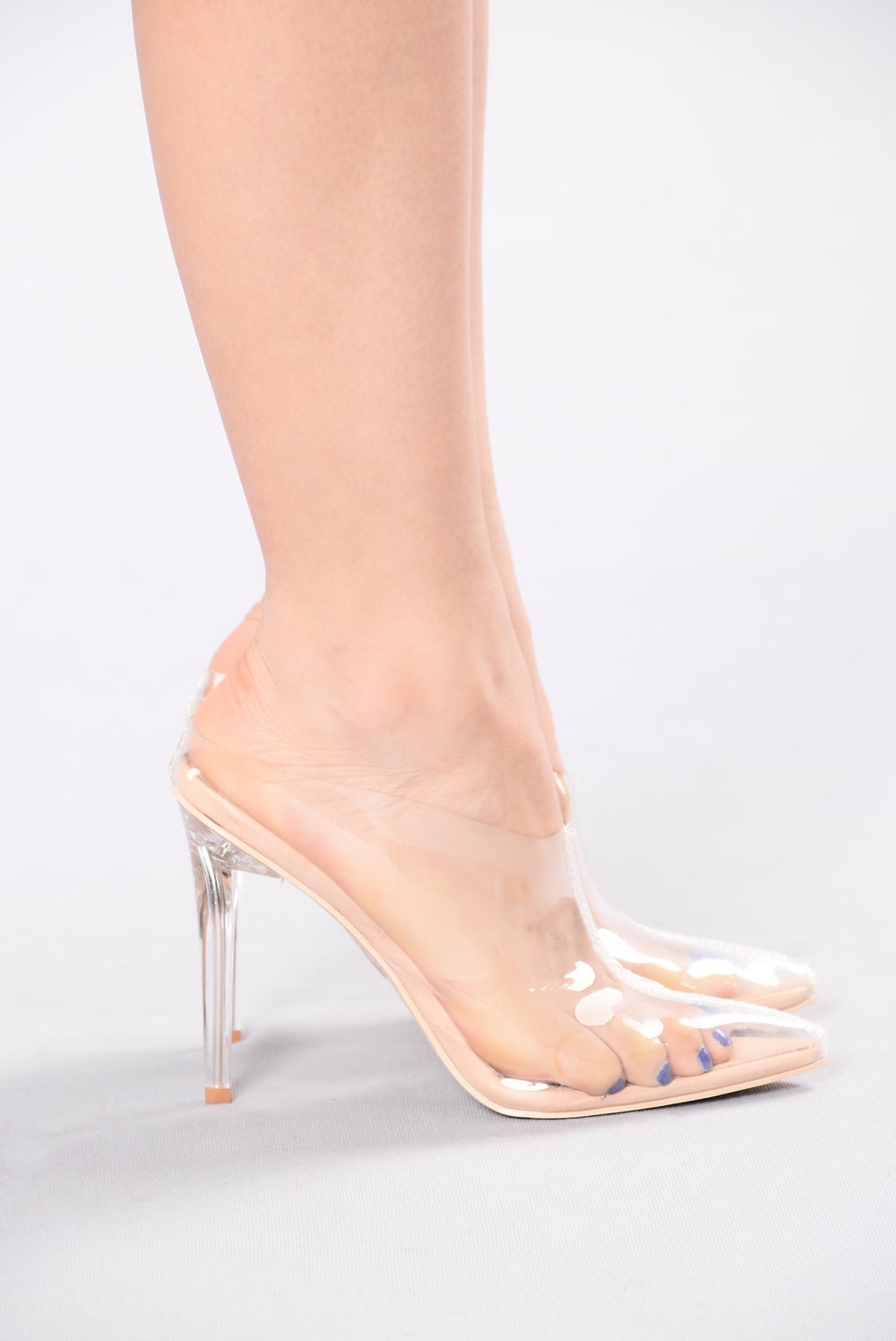 Clear Heel Shoes Uk