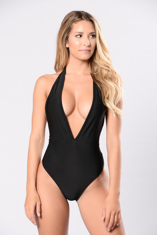 All The Fishes In The Sea Swimsuit - Black
