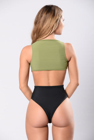 Surfin Safari Swimsuit - Kale/Black