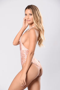 Yacht Drifter Swimsuit - Nude Reptile