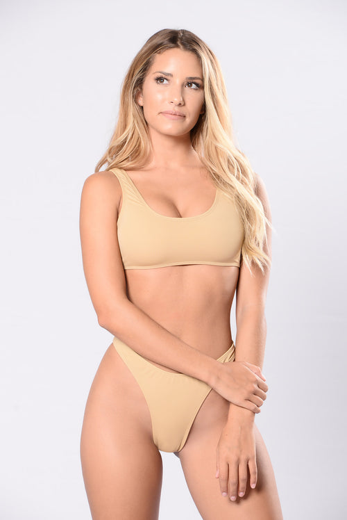 Calling All Angels Bikini Set - Nude
