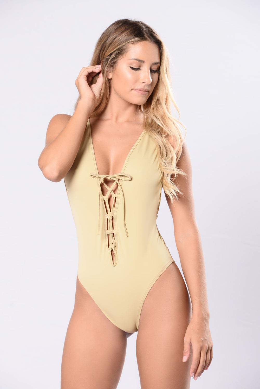 Deeper Water Swimsuit - Nude