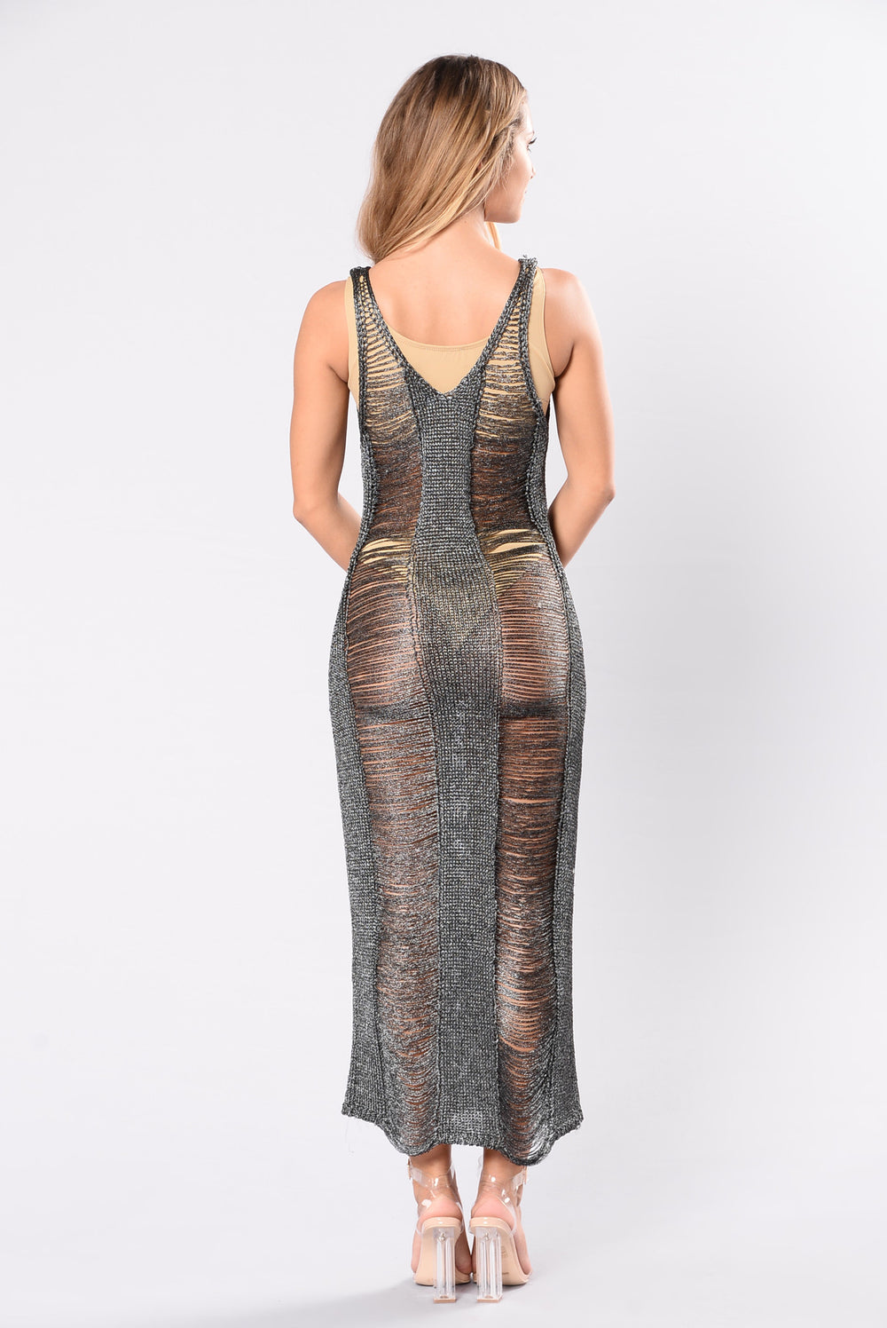 Maldive Cover Up Dress - Gunmetal