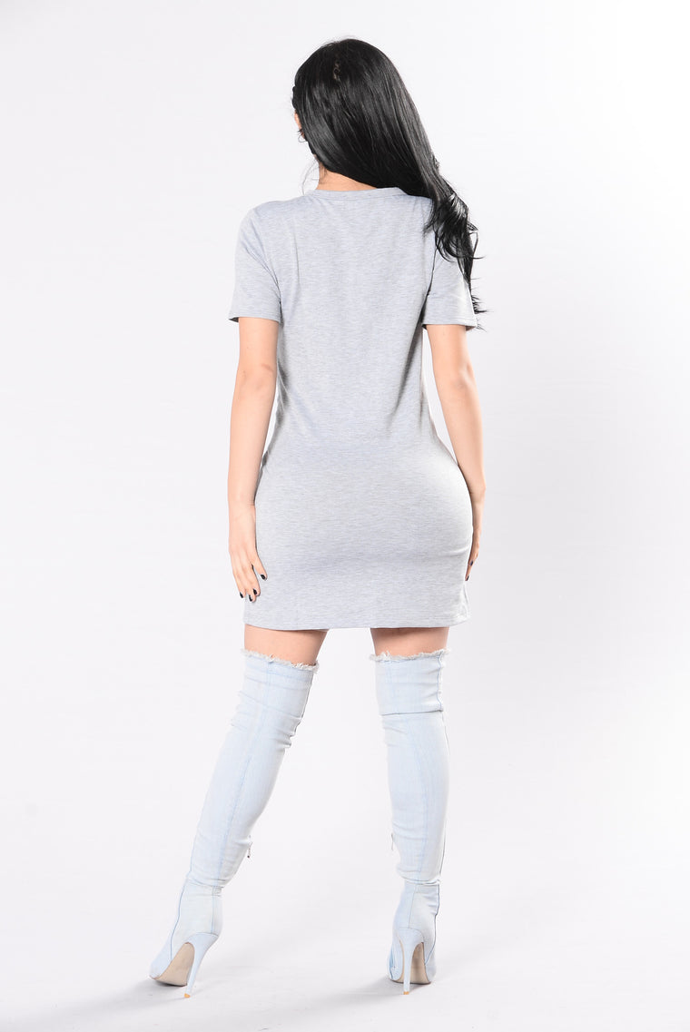 Upfront Dress - Heather Grey