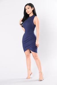 Picture Perfect Dress - Navy