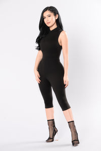 On The Move Jumpsuit - Black